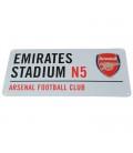 Arsenal 3D Street Sign