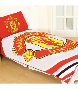 Manchester United Single Reversible Duvet Set