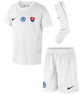 Slovakia Home kids football shirt with shorts and socks
