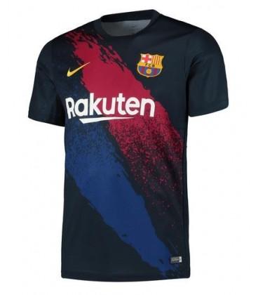 Barcelona Pre Match Top - Dark Blue