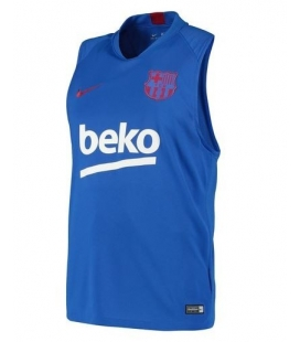 Barcelona Squad Sleeveless Training Top - Blue