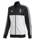 Juventus 3 Stripe Track Top - Black