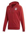 Bayern Munich 3 Stripe Full Zip Hoody