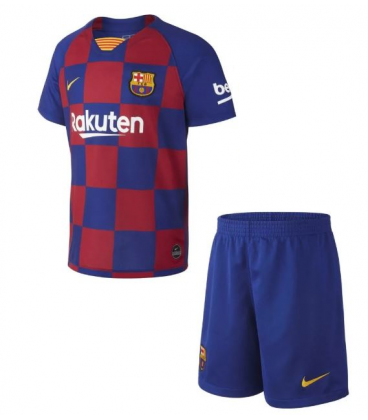 FC Barcelona Home kids football shirt with shorts