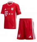 Bayern Munich Home kids football shirt and shorts