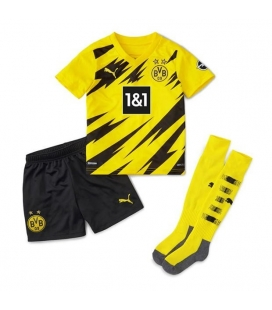 Borussia Dortmund Home kids football shirt with shorts and socks