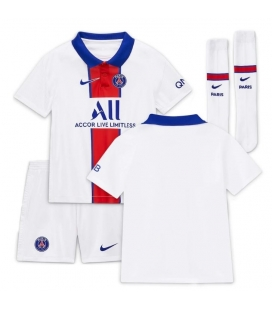Paris Saint Germain Away kids football shirt with shorts and socks