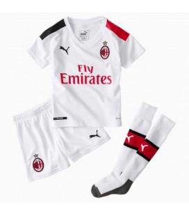 AC Milan Away kids football shirt with shorts and socks