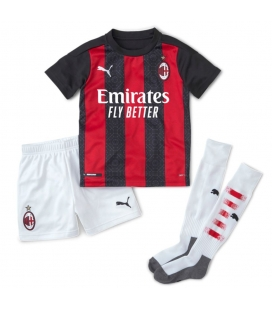 AC Milan Home kids football shirt with shorts and socks