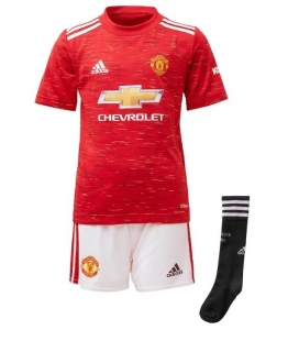 Manchester United Home kids football shirt, shorts and socks