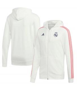 Real Madrid 3 Stripe Full Zip Hoodie