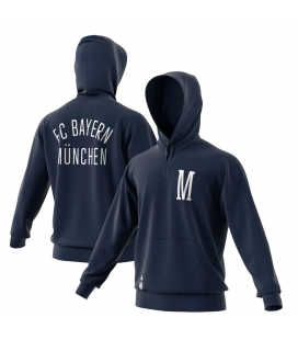Bayern Munich 3 Stripe Full Zip Hoody