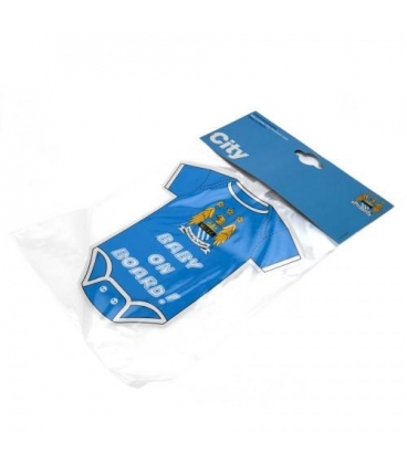 Manchester City Mini Baby On Board Sign