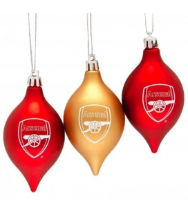 Arsenal Christmas Baubles