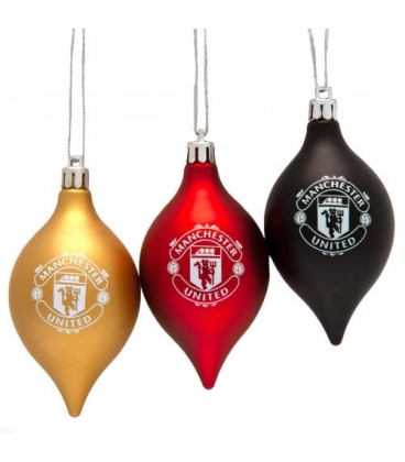 Manchester United Christmas Baubles